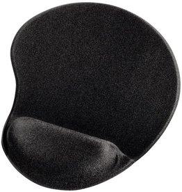 hama Mauspad, Lycraoberfläche, 21,5 x 25,5 cm, schwarz