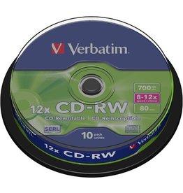 Verbatim CD-RW, Spindel, wiederbeschreibbar, 700 MB, 80 min, 10 x