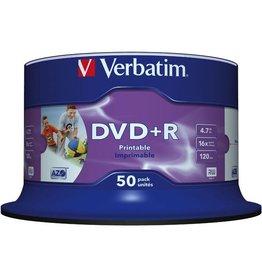 Verbatim DVD+R, keine ID, full printable, Spin., 4,7GB, 16x