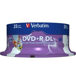 Verbatim DVD+R, Double Layer, full printable, Spin., 8,5GB, 8x