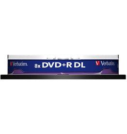 Verbatim DVD+R, Double Layer, Spindel, einmalbeschreibb., 8,5 GB, 240 min, 8 x