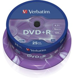 Verbatim DVD+R, Spin., einmalbeschreibb., 4,7GB, 16x