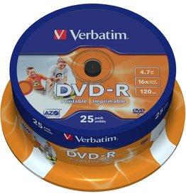 Verbatim DVD-R, full printable, Spindel, einmalbeschreibb., 4,7 GB, 16 x