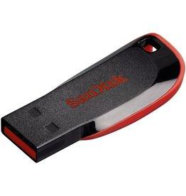 SanDisk USB-Stick Cruzer Blade, 32 GB, schwarz/rot