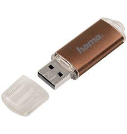 hama USB-Stick FlashPen Laeta, USB 2.0, 32 GB, Lesen: 10 MB/s, braun
