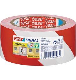 tesa Warnband Signal UNIVERSAL, PP, sk, 50 mm x 66 m, rot/weiß