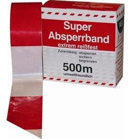 Absperrband, L: 500 m, rot/weiß