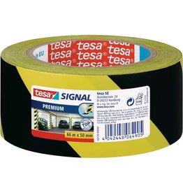tesa Warnband Premium, diag.gestreift, sk, 50mmx66m, sw/gb