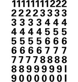 HERMA Etikett, 0-9, sk, Folie, Schrifth.: 10 mm, freigestellt, schwarz