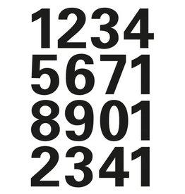 HERMA Etikett, 0-9, sk, Folie, Schrifth.: 25 mm, freigestellt, schwarz