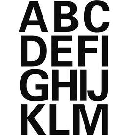 HERMA Etikett, A-Z, sk, Folie, Schrifth.: 25 mm, freigestellt, schwarz