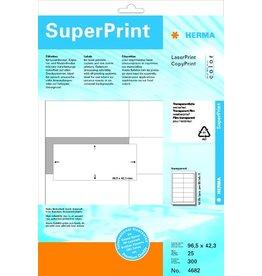 HERMA Etikett, FL/FK, 96,5 x 42,3 mm, transparent, matt
