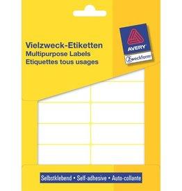 AVERY Zweckform Etikett, Handbeschr., Bg., sk, Pap., 62x19mm, weiß