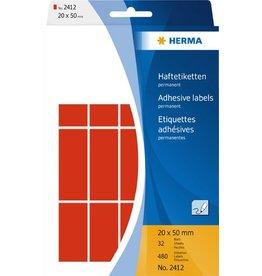 HERMA Etikett, Handbeschriftung, sk, Spezialpapier, 20 x 50 mm, rot