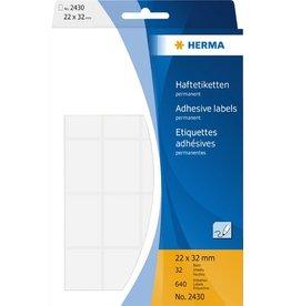 HERMA Etikett, Handbeschriftung, sk, Spezialpapier, 22 x 32 mm, weiß