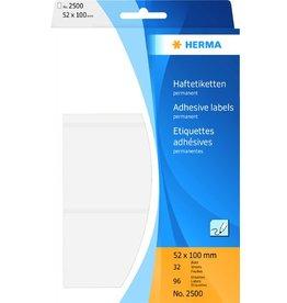 HERMA Etikett, Handbeschriftung, sk, Spezialpapier, 52 x 100 mm, weiß