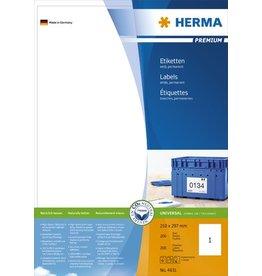 HERMA Etikett, I/L/K, sk, 210 x 297 mm, weiß