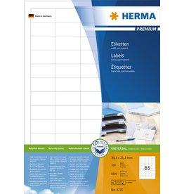 HERMA Etikett, I/L/K, sk, 38 x 21,2 mm, weiß