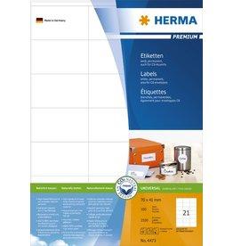 HERMA Etikett, I/L/K, sk, 70 x 41 mm, weiß