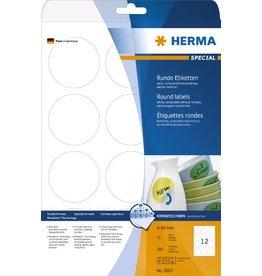 HERMA Etikett, I/L/K, sk, ablösbar, rund, Ø: 60 mm, weiß