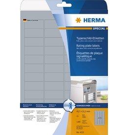 HERMA Etikett, Laser/Kopierer, sk, PES-Fol., 45,7x21,2mm, silber, matt
