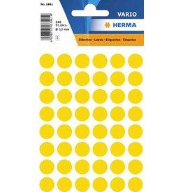 HERMA Markierungspunkt, Handbeschriftung, sk, Ø: 12 mm, gelb