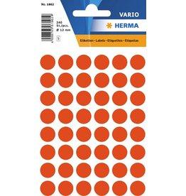 HERMA Markierungspunkt, Handbeschriftung, sk, Ø: 12 mm, rot