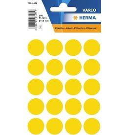 HERMA Markierungspunkt, Handbeschriftung, sk, Ø: 19 mm, gelb