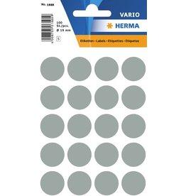 HERMA Markierungspunkt, Handbeschriftung, sk, Ø: 19 mm, grau