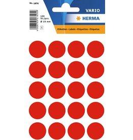 HERMA Markierungspunkt, Handbeschriftung, sk, Ø: 19 mm, leuchtrot