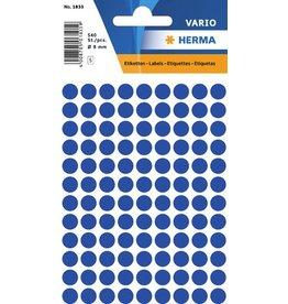 HERMA Markierungspunkt, Handbeschriftung, sk, Ø: 8 mm, dunkelblau