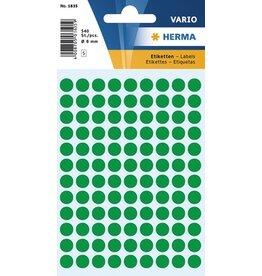 HERMA Markierungspunkt, Handbeschriftung, sk, Ø: 8 mm, dunkelgrün