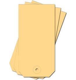 Pressel Anhängezettel, mit: Kartonöse, 190 g/m², 50 x 100 mm, chamois