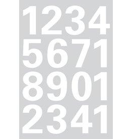 HERMA Etikett, 0-9, sk, Folie, Schrifth.: 25 mm, weiß, Hintergrund: grau