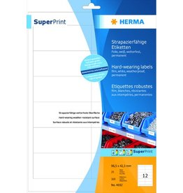 HERMA Etikett, FL/FK, 96,5 x 42,3 mm, weiß, matt