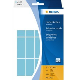 HERMA Etikett, Handbeschriftung, sk, Spezialpapier, 20 x 50 mm, blau