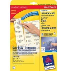 AVERY Zweckform Etikett, I, A4-Bg., sk, PE-Folie, 99,1x38,1mm, tr