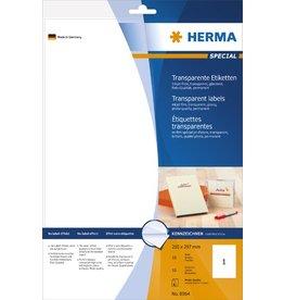 HERMA Etikett, I, auf A4-Bogen, sk, PES-Fol., 210 x 297 mm, tr, gl.