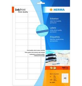 HERMA Etikett, I, sk, 45,7 x 21,2 mm, weiß