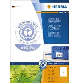 HERMA Etikett, I/L/K, auf A4-Bogen, sk, Pap.(RC), 210x297mm, naturweiß