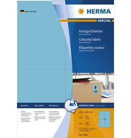 HERMA Etikett, I/L/K, sk, 105 x 148 mm, blau