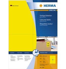 HERMA Etikett, I/L/K, sk, 105 x 148 mm, gelb