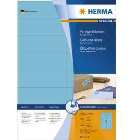 HERMA Etikett, I/L/K, sk, 105 x 37 mm, blau