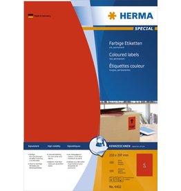 HERMA Etikett, I/L/K, sk, 210 x 297 mm, rot