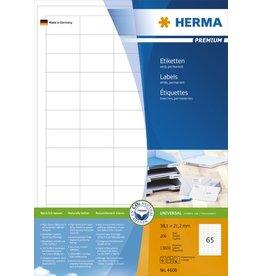 HERMA Etikett, I/L/K, sk, 38,1 x 21,2 mm, weiß