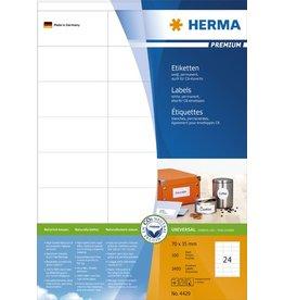 HERMA Etikett, I/L/K, sk, 70 x 35 mm, weiß