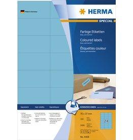 HERMA Etikett, I/L/K, sk, 70 x 37 mm, blau