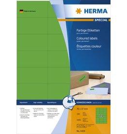 HERMA Etikett, I/L/K, sk, 70 x 37 mm, grün