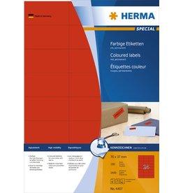 HERMA Etikett, I/L/K, sk, 70 x 37 mm, rot