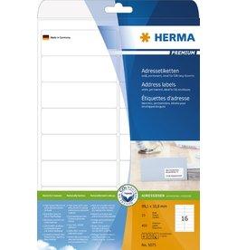 HERMA Etikett, I/L/K, sk, abger.Ecken, 99,1 x 33,8 mm, weiß